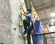 Group 8 had an awesome time rock climbing at The Cliffs with Adaptive Climbers!