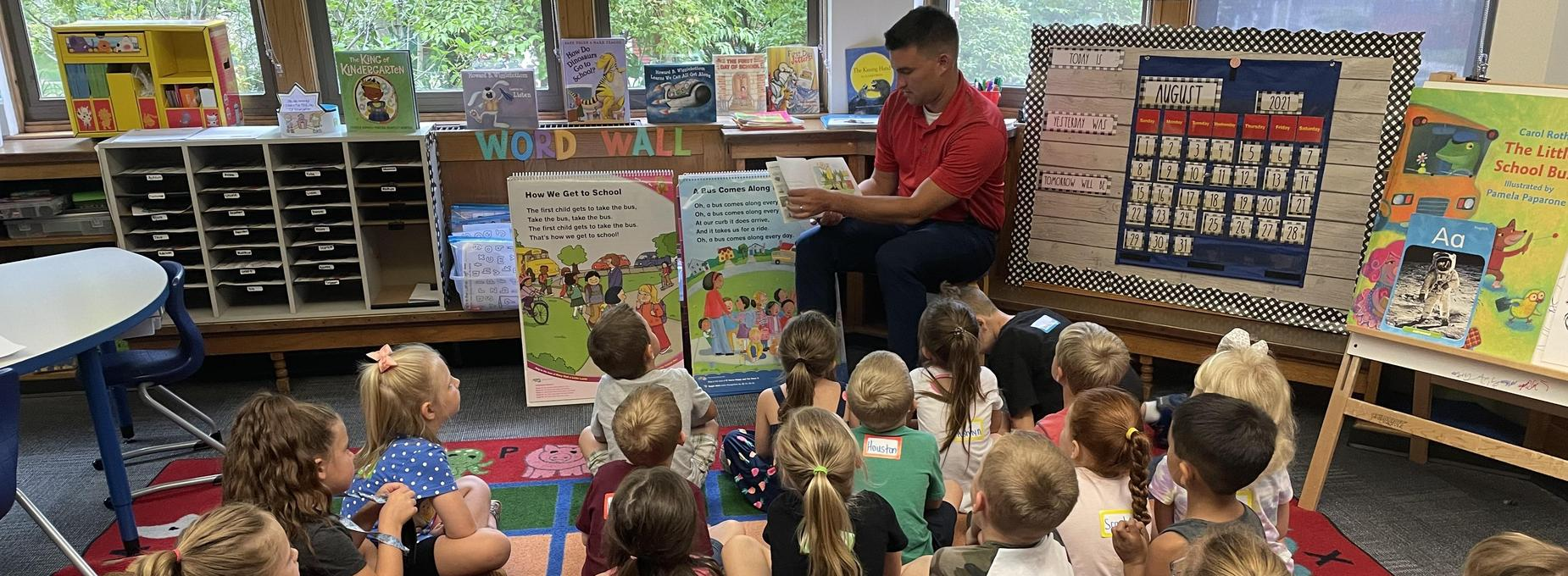 Reading with Mr. Flessner