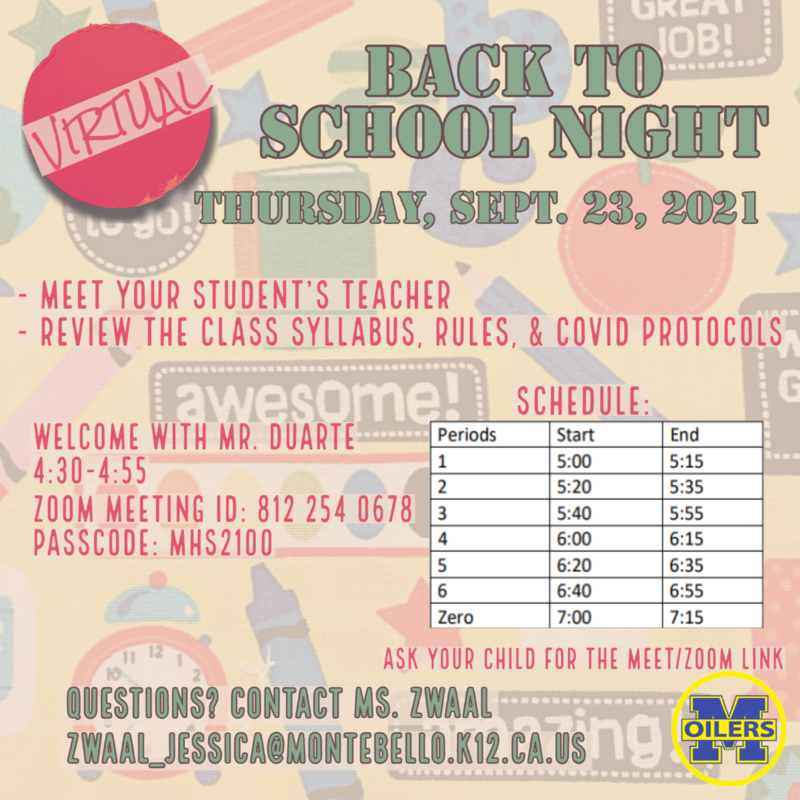 back to school night infographic