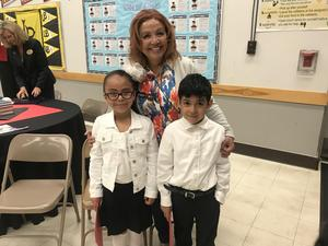 Mrs. Ruelas with her Kinder Students