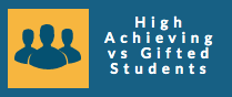 high achieving vs gifted