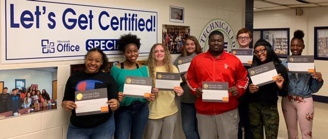CHS Teacher Tambra Watson's 2nd semester class IBA II earn MOS Certification Featured Photo