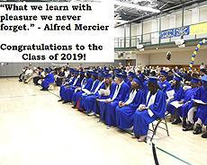 """What we learn with pleasure we never forget."" -Alfred Mercier Image of an NYISE HIGH SCHOOL GRADUATION"