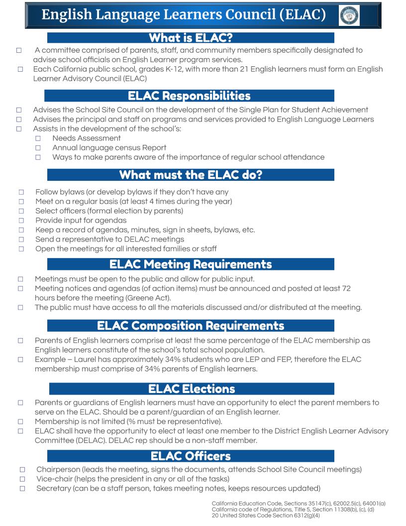 ELAC Information