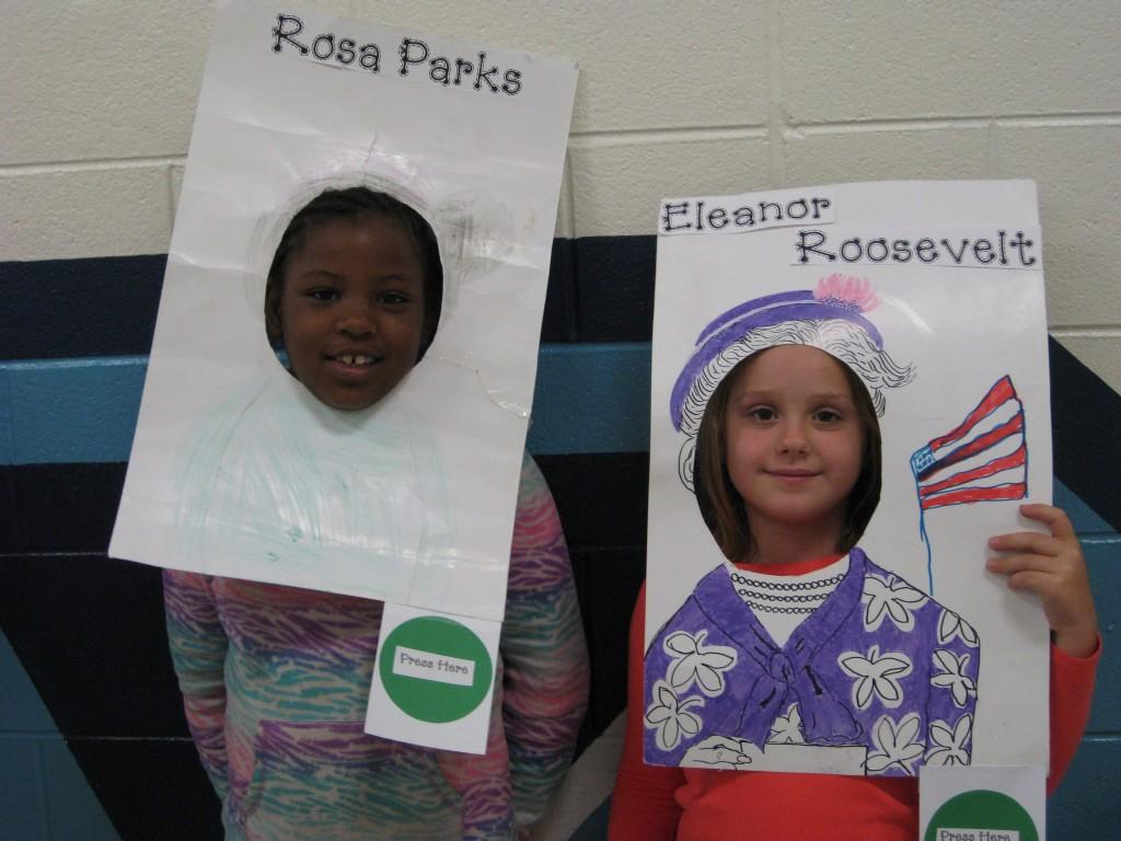 Wax Museum-Rosa Parks and Eleanor Roosevelt