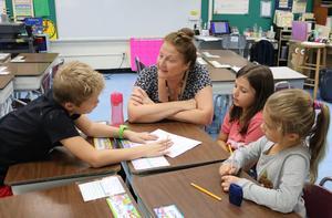 Wilson School, Grade 3 teacher Lynn Kraus read
