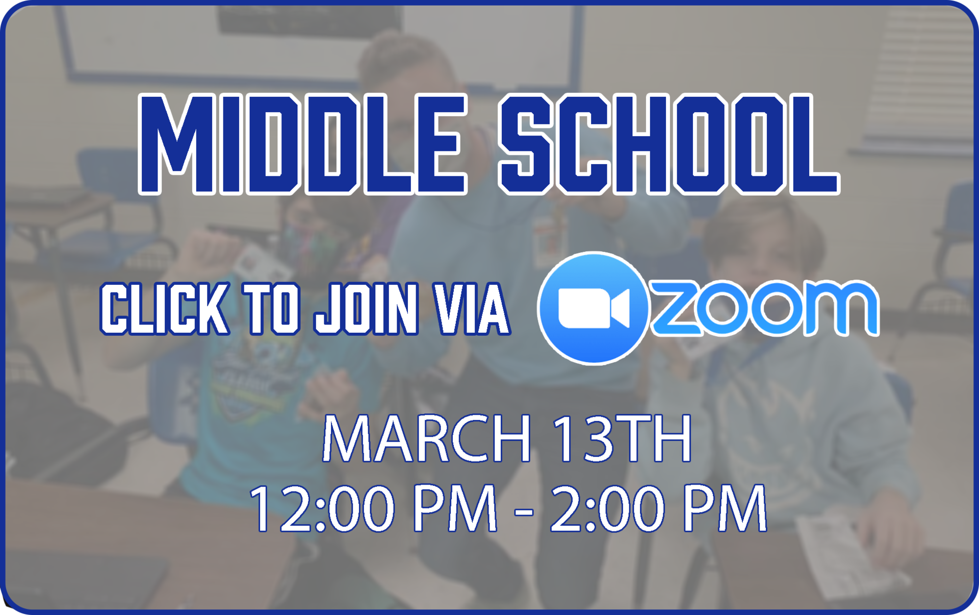 Middle School Zoom Link