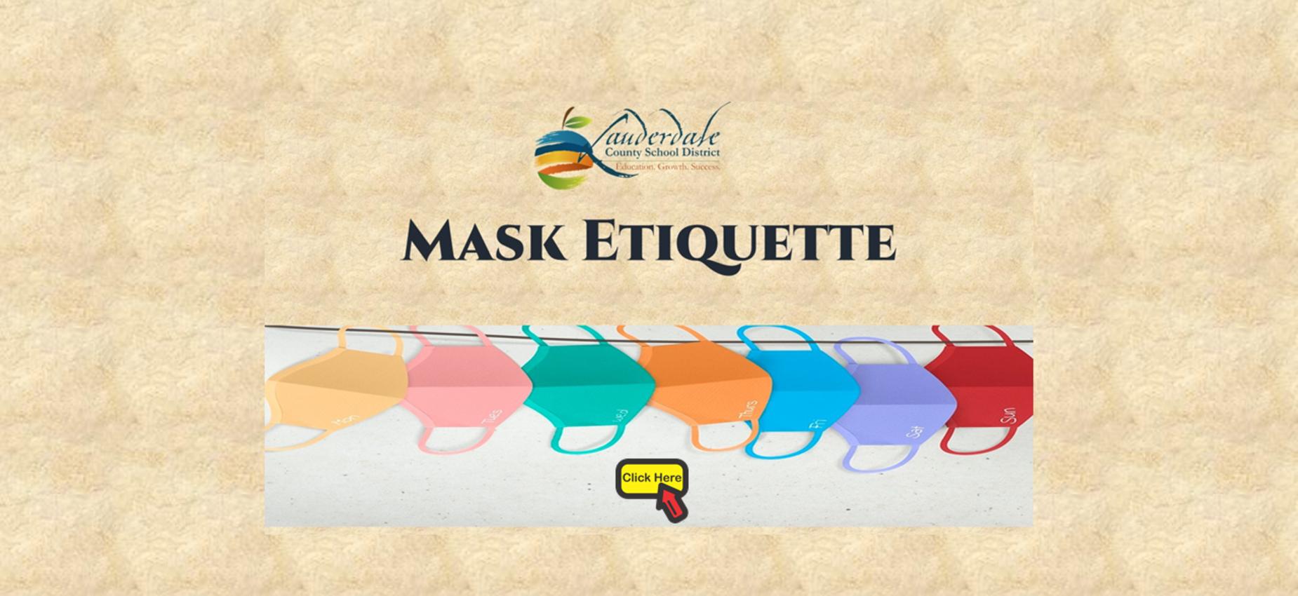 Mask Etiquette Graphic