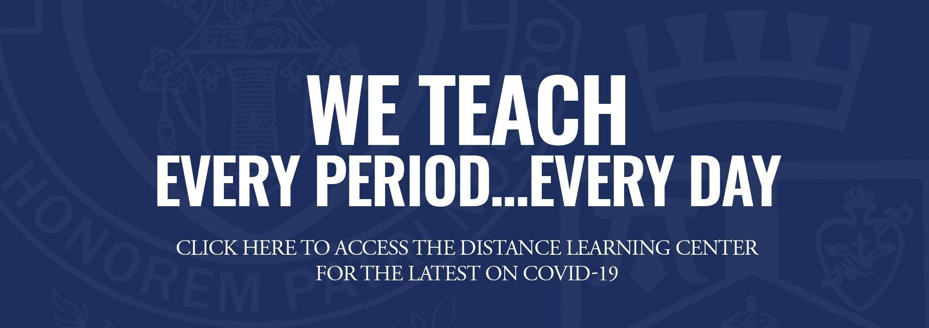 Distance Learning Center Banner