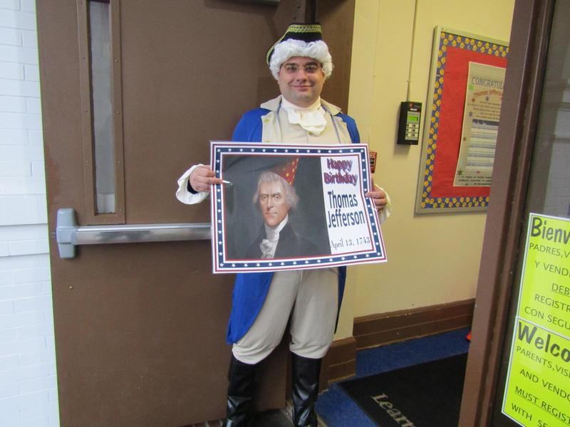 Mr. Petric Dressed as Thomas Jefferson