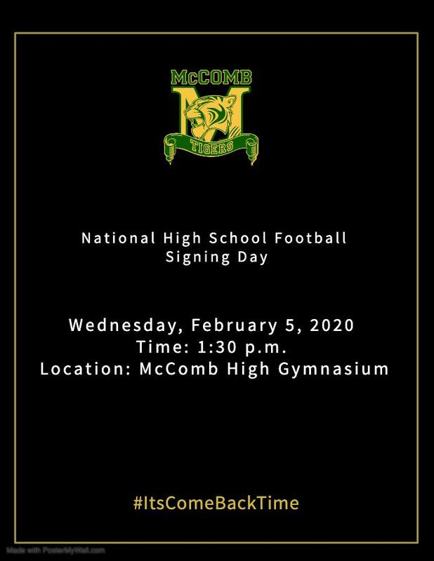 McComb High School Football Signing Day News 2020  #ItsComeBackTime