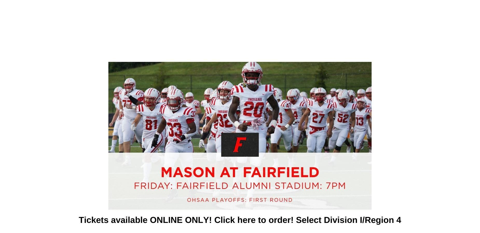 This is an image of the football team in an announcement about how to order tickets online. Fans can click on this image to order ticket.