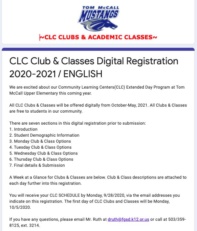 CLC Digital Registration thumbnail image in English