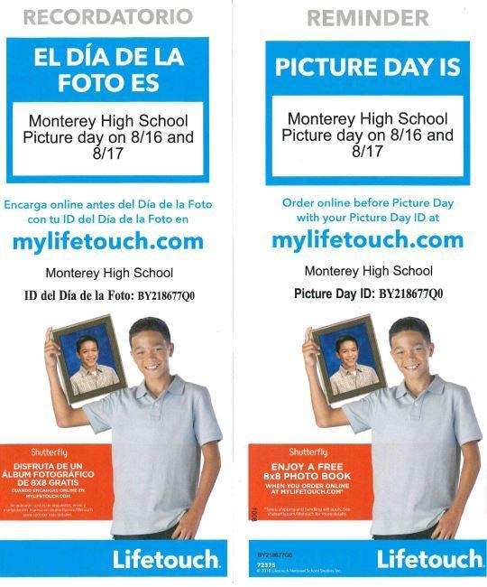 Picture Day 8/16 & 8/17