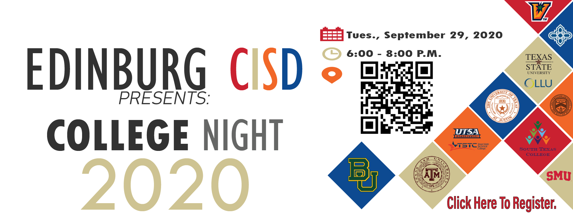 ecisd college night.  click here to register.
