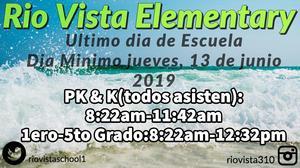 Image of last day of school in Spanish