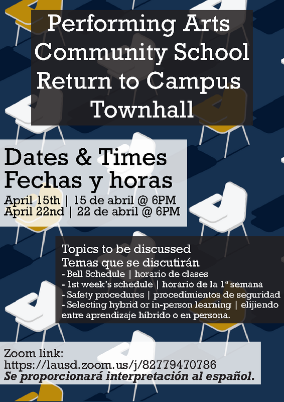 PACS - Return to Campus - Townhall Featured Photo