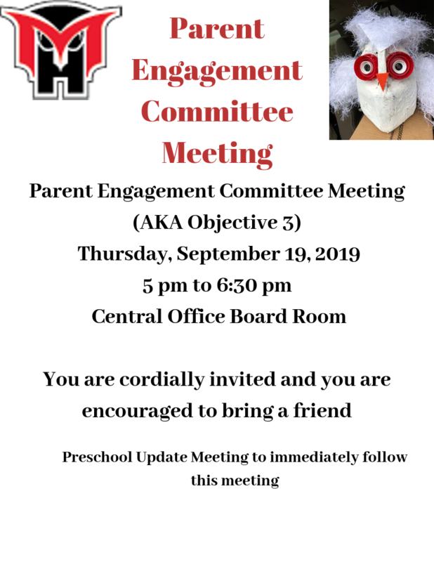 Parent Engagement Committee mtg