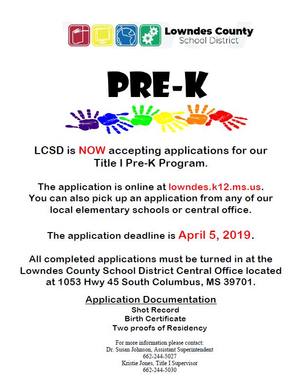 Preschools - Miscellaneous - Lowndes County School District
