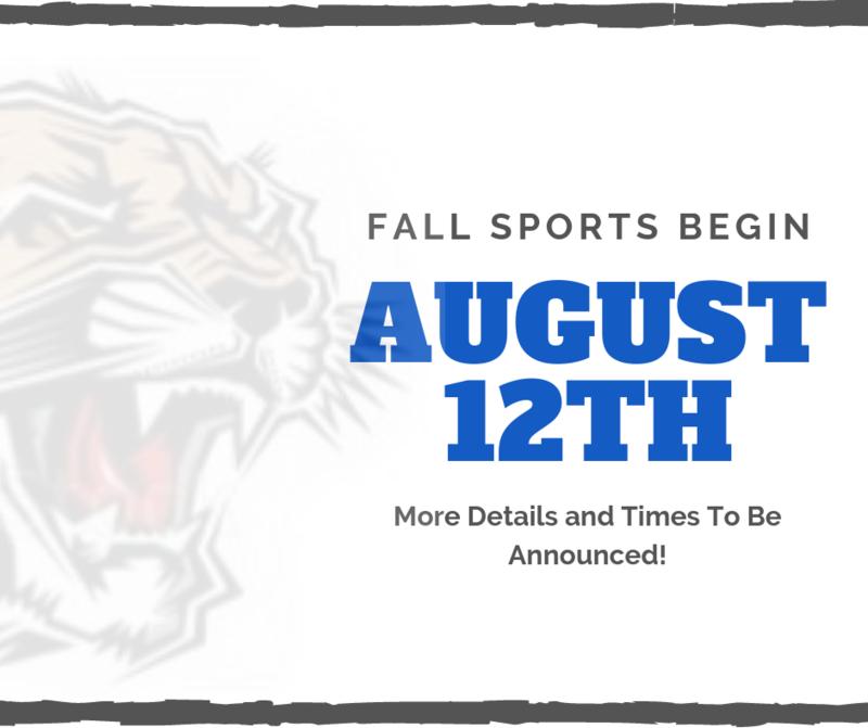 Fall Sports Begin August 12th! Thumbnail Image