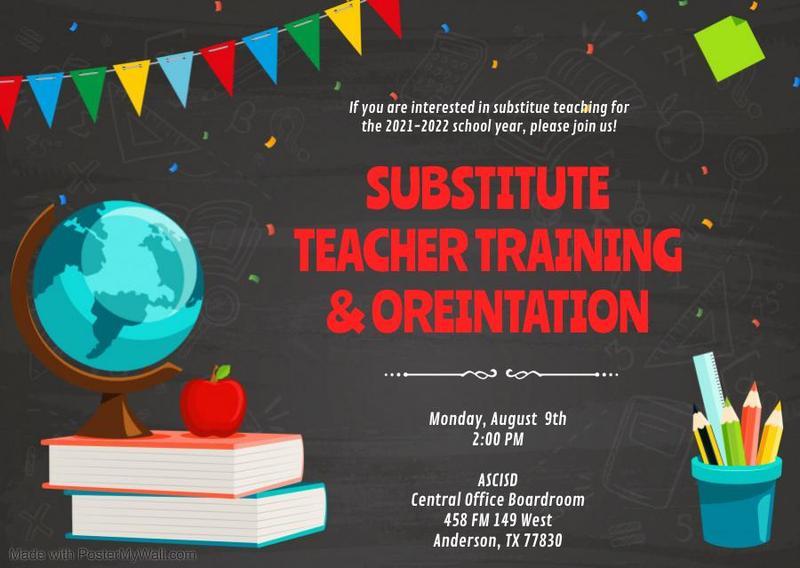 Substitute Teacher Training & Orientation Featured Photo