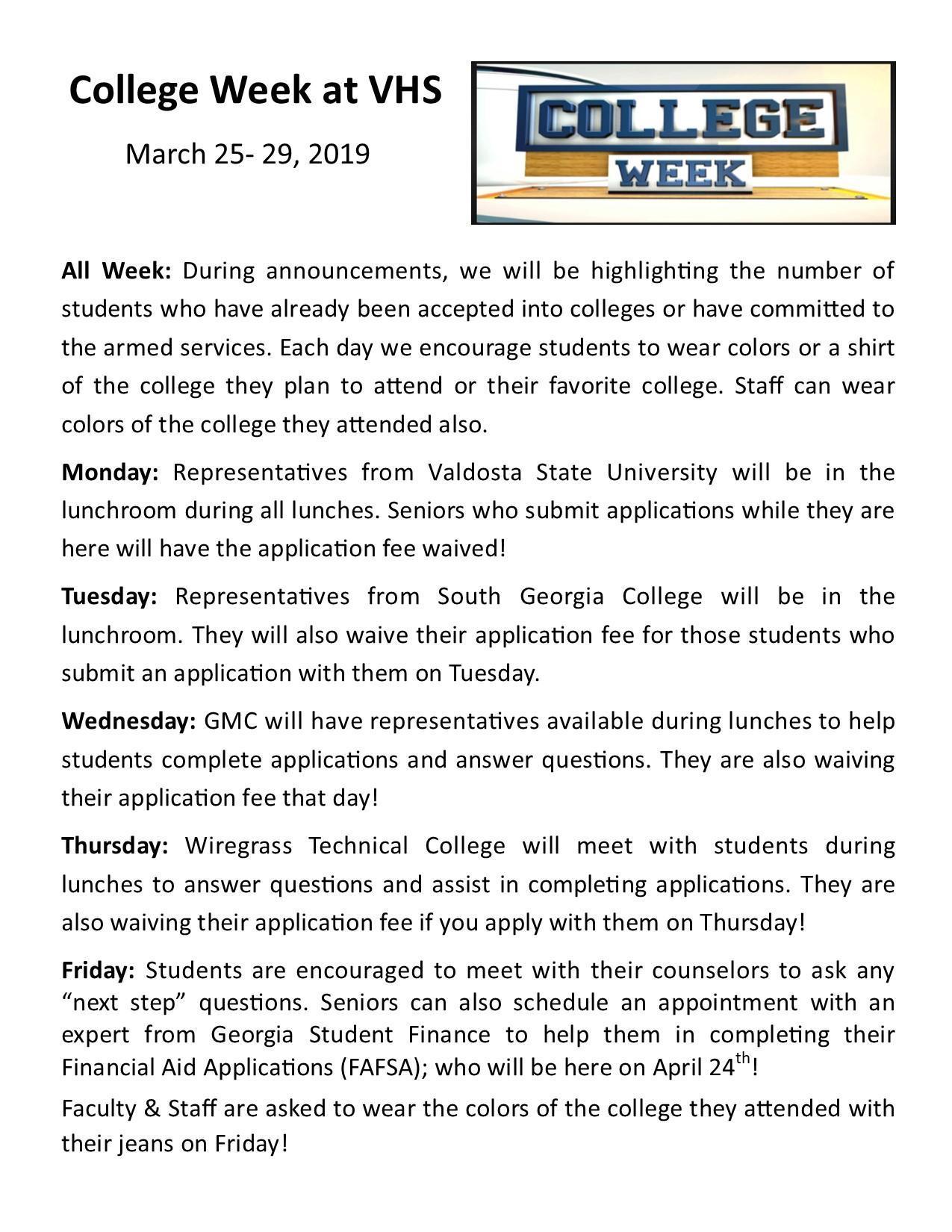 College Week 2019