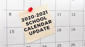 2020-2021 Calendar update