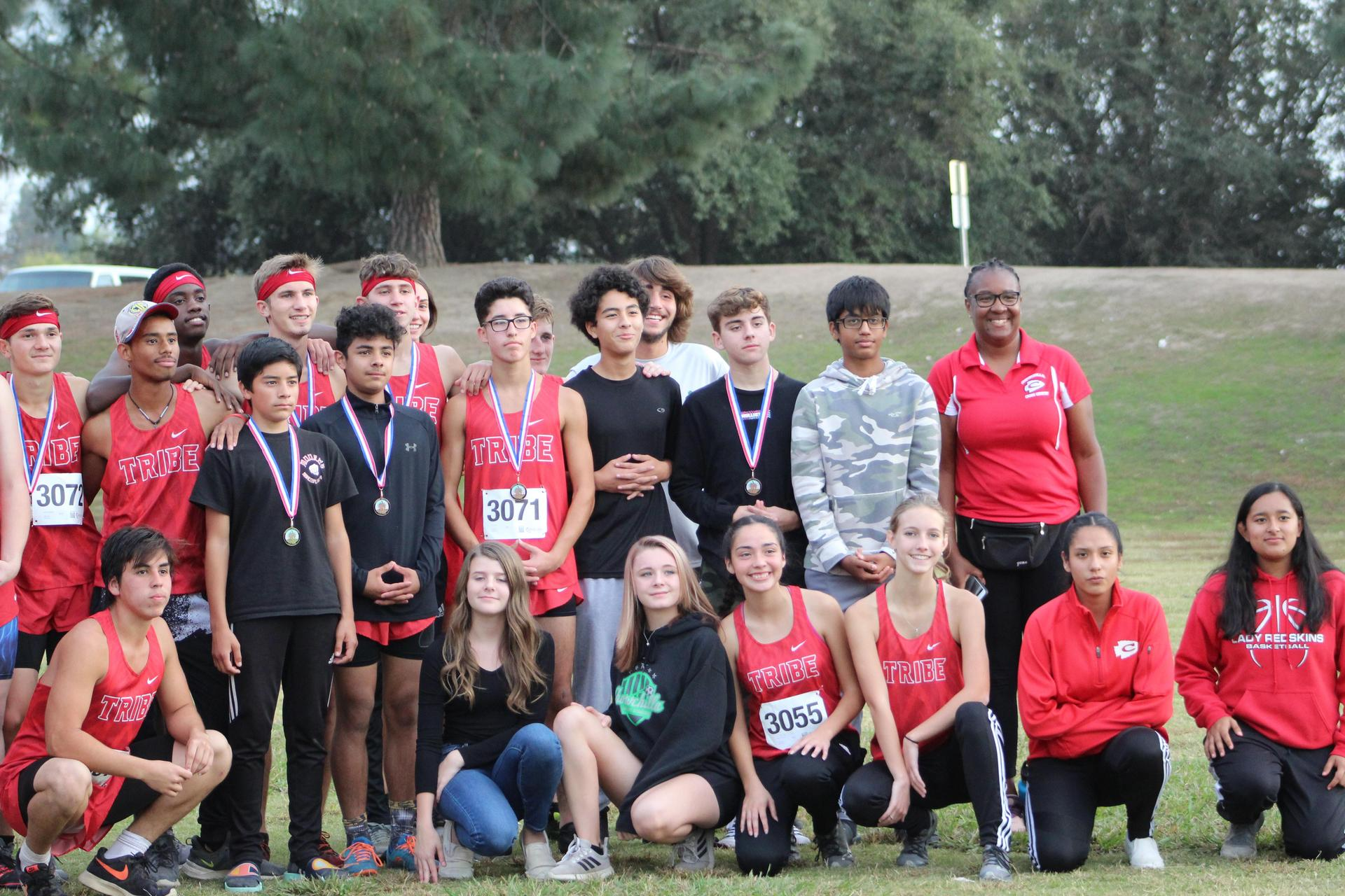 The whole Cross country team together