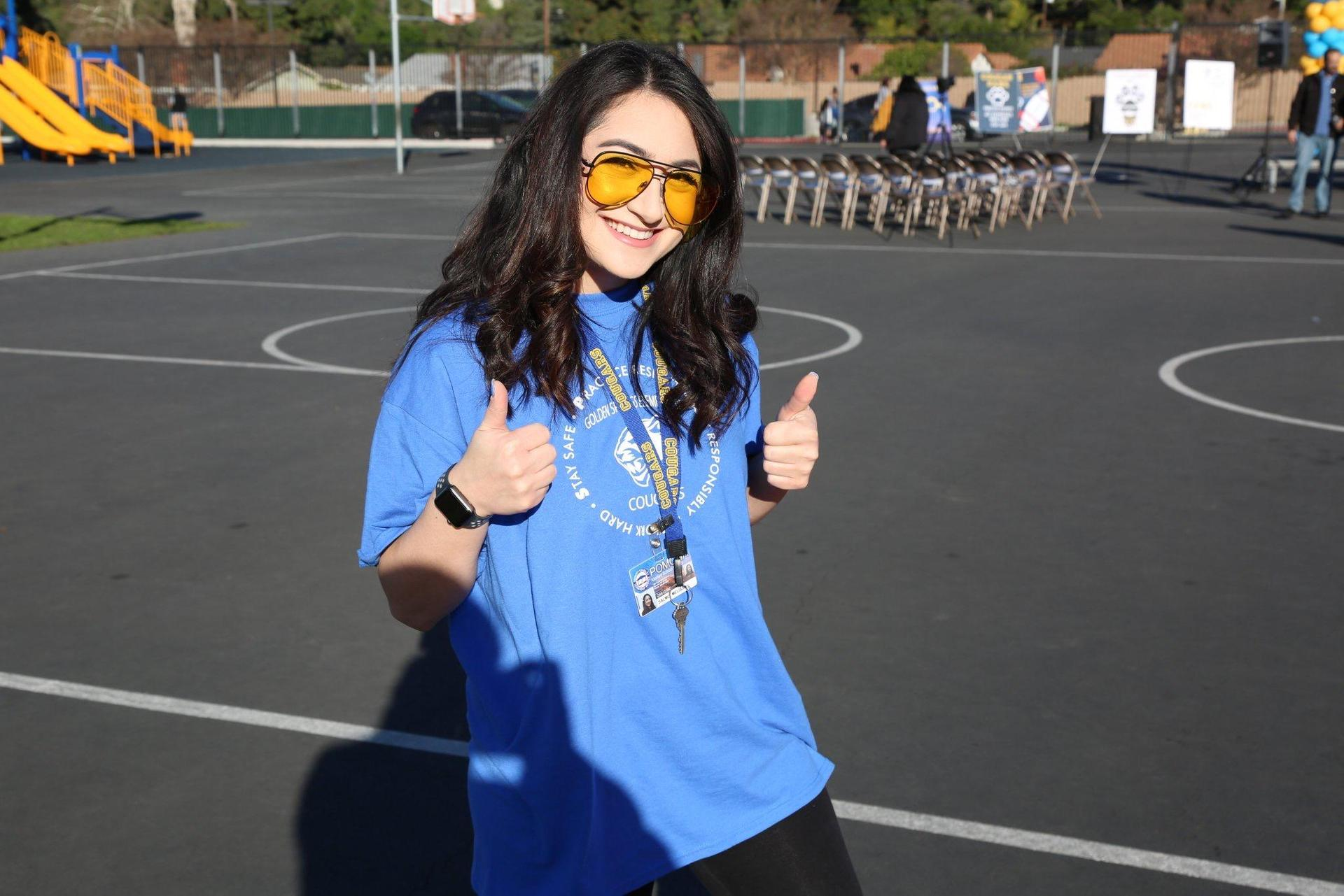 Picture of School Counselor doing a Thumbs Up