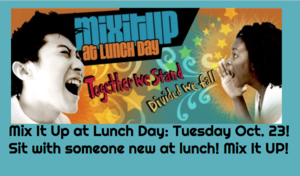 Mix it Up at Lunch Day is Tuesday, Oct. 23!