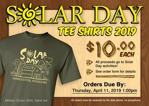 Solar Day 2019 Tee Shirt ad