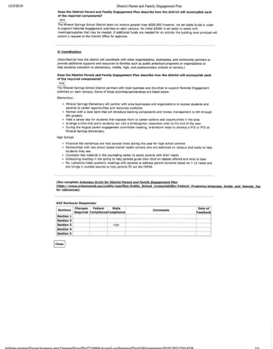 District Paren & Family Engagement Plan pg 3