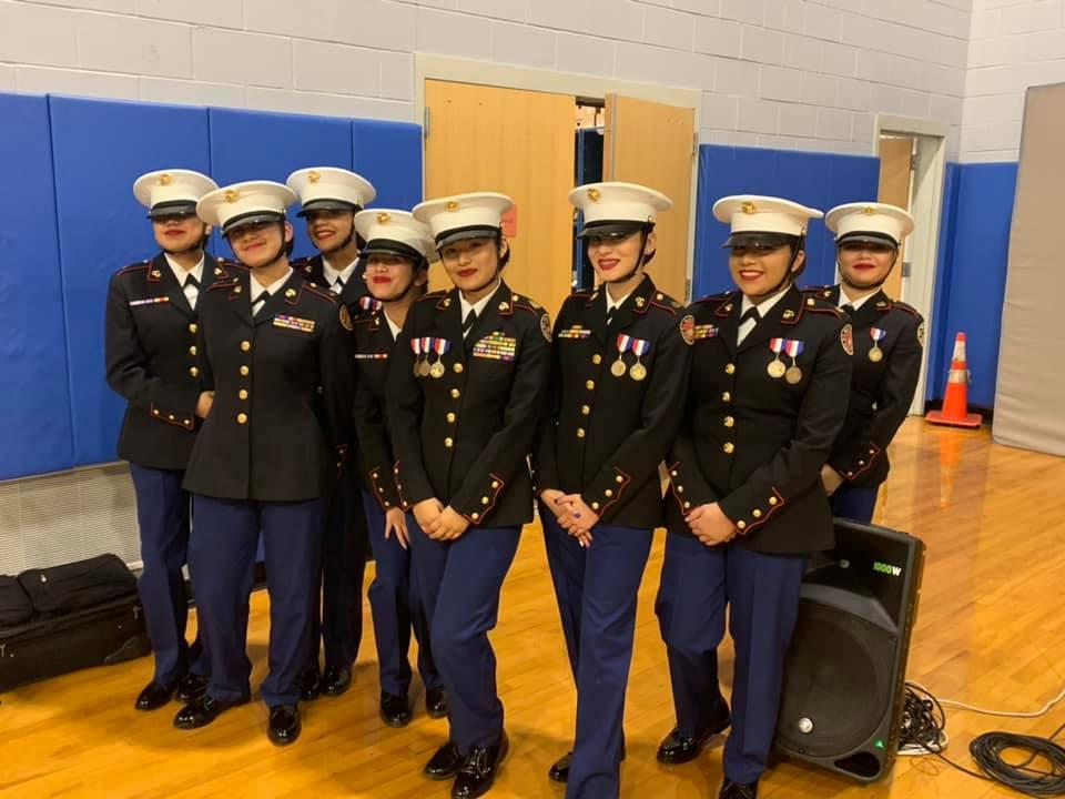 female rotc smiling