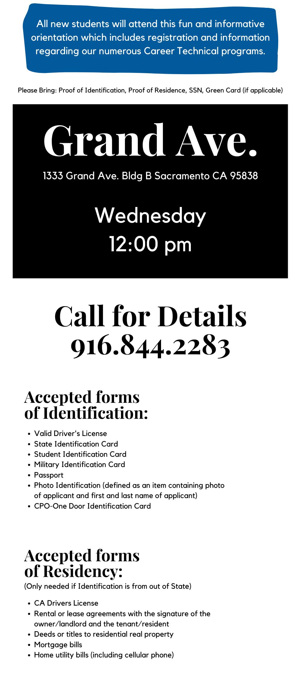 Orientation details