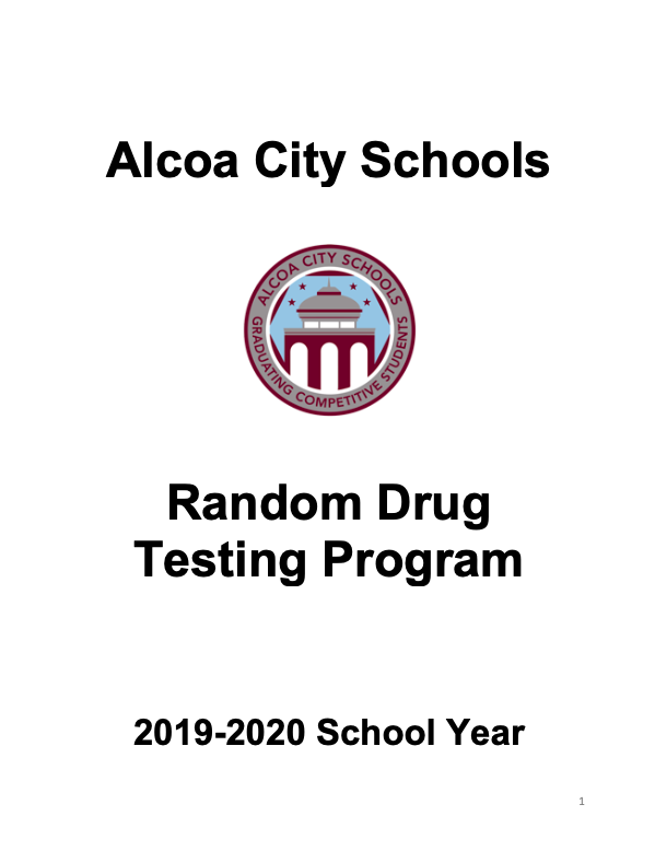 2019-2020 Random Drug Test Policy