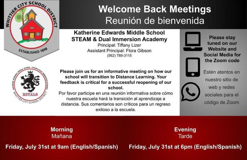 Welcome Back Meeting Flyer