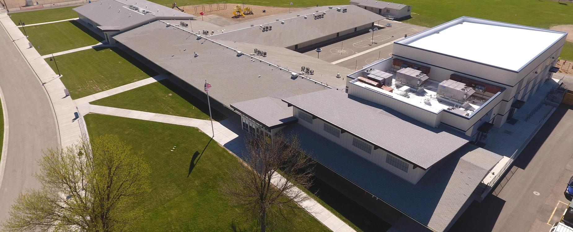 New Plymouth Elementary School aerial view 2