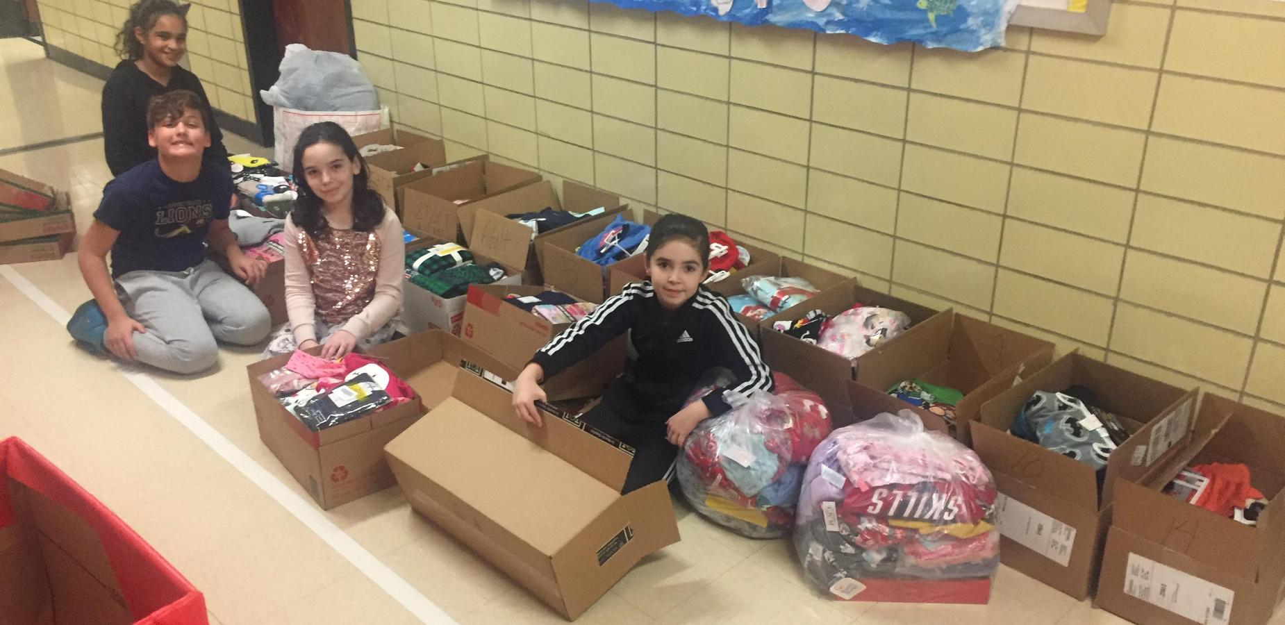 Students Collecting PJs to donate
