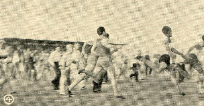 Relay team in the Franklin Meet, 1932