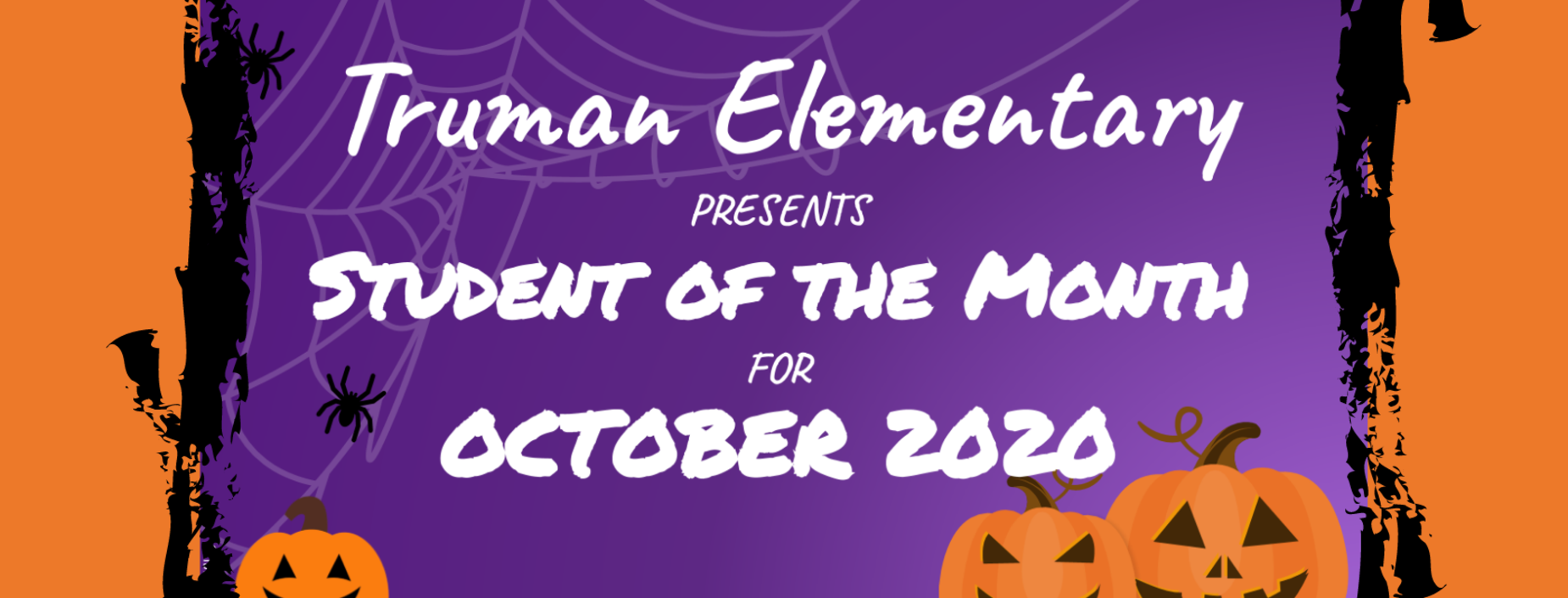 October Student of the Month Banner