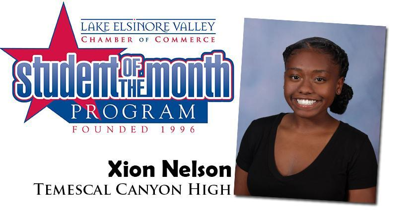 Xion Nelson, Temescal Canyon HS, Student of the Month, October, 2020.