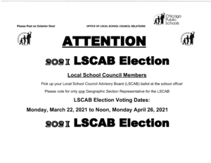2021 LSCAB Election