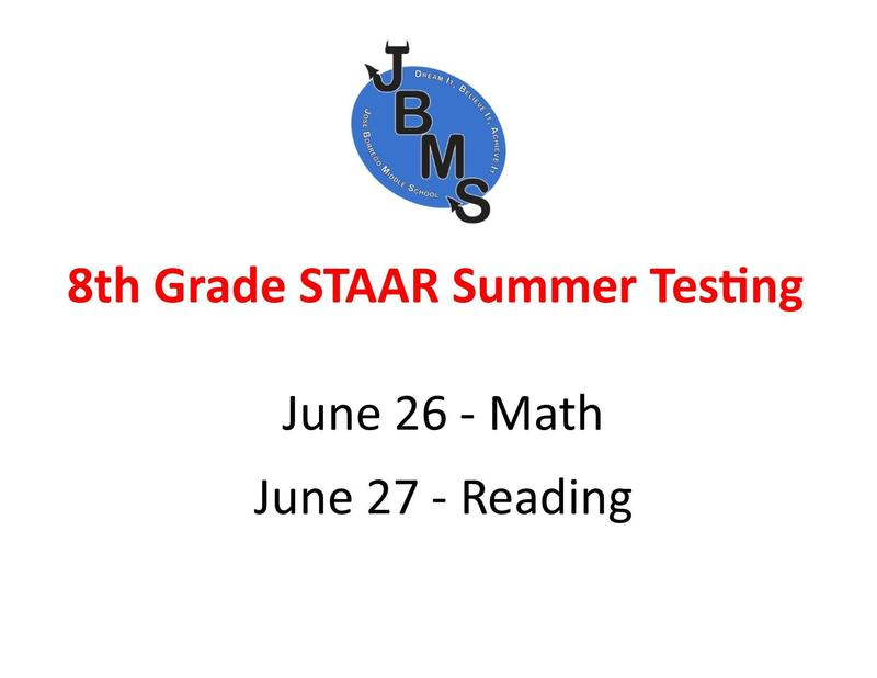 JBMS STAAR Summer Testing Featured Photo