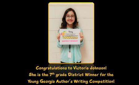 Young GA Author's District Winner