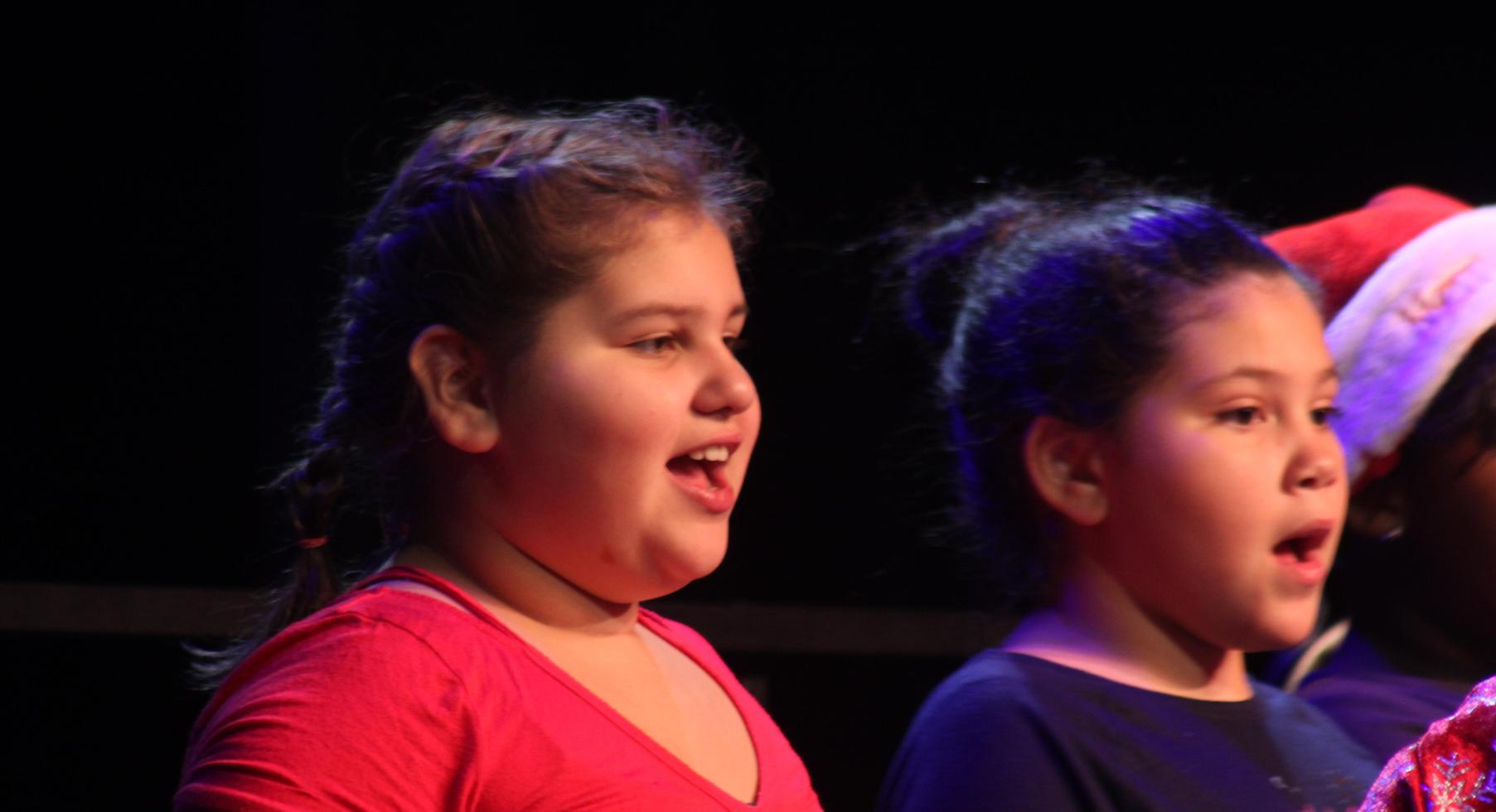Singing in the Christmas Program
