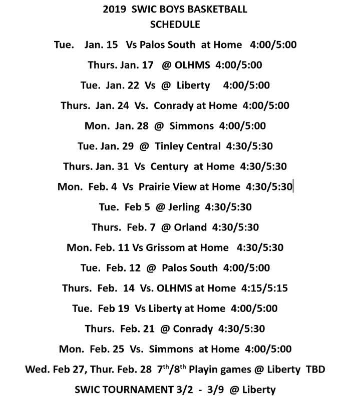 Boys' Basketball Schedule Thumbnail Image