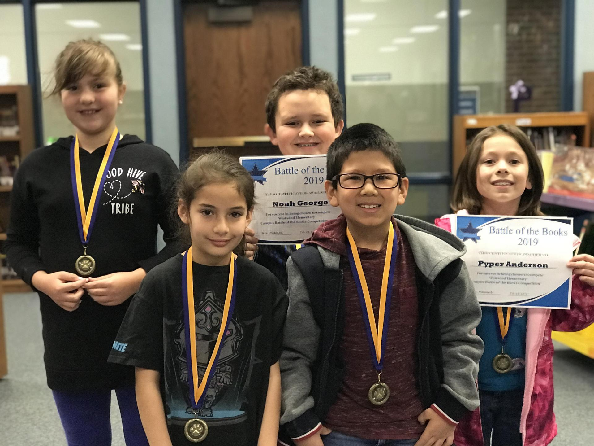 children with awards