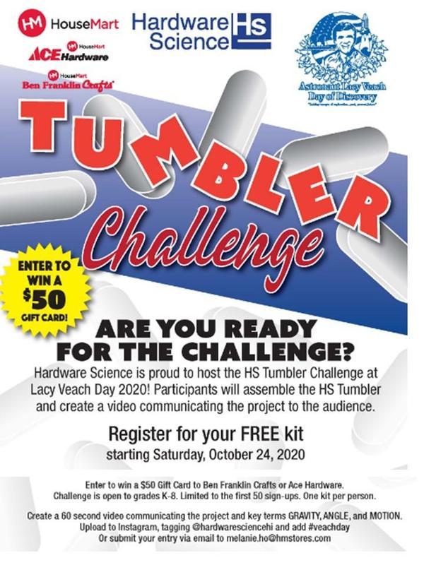 Flyer for Hardware Science Tumbler Challenge