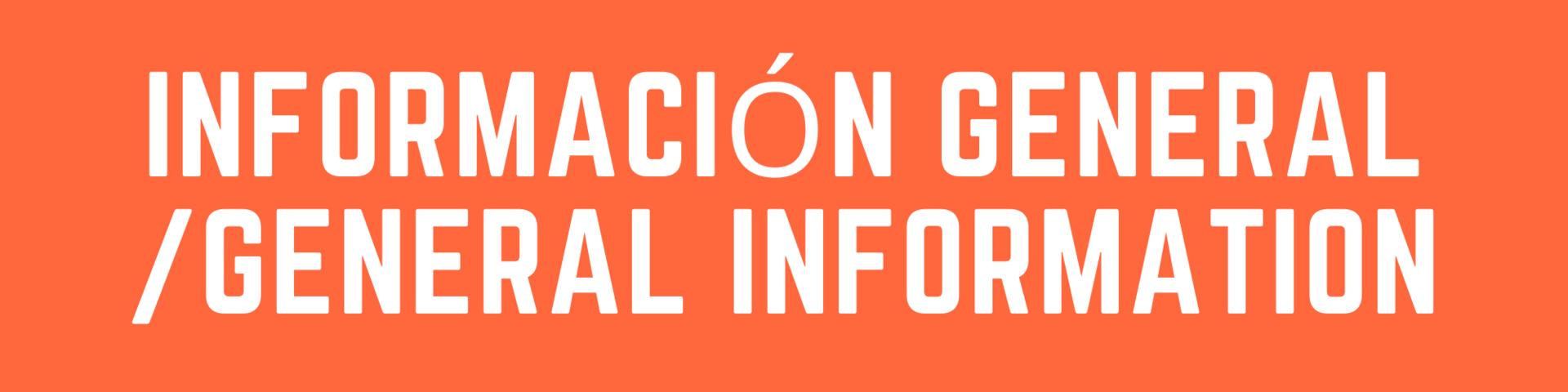 General Information banner