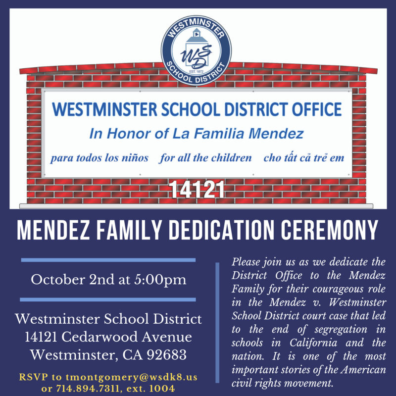 Mendez Family Dedication Ceremony